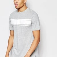 New Look Striped T Shirt in Gray