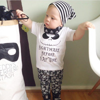 Baby boy clothes 2016 summer baby girl clothing sets newborn cotton pirate printed short sleeved t-shirt+pants kids 2pcs suit