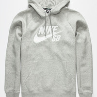 Nike Sb Icon Crackle Mens Hoodie Heather Grey  In Sizes
