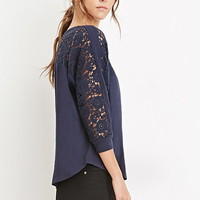 Crochet-Paneled Dolman Top