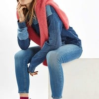 Denim Patchwork Sweatshirt | Topshop