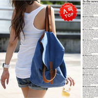 Fashion Women Vintage Canvas Satchel Rucksack Travel Schoolbag Bookbag Backpack