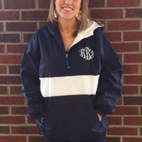 Classic Striped Monogrammed Pullover