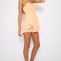 No Mercy Playsuit - Coral