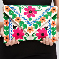 Steal Me Away Floral Clutch