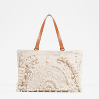 EMBROIDERED FABRIC TOTE