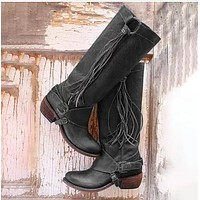 Tassel Women's Knight Boots