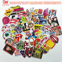 100 pcs Mixed funny hit stickers for kids Home decor jdm on laptop sticker decal fridge skateboard doodle stickers toy stickers