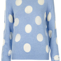 Knitted Sheer Solid Spot Sweat - Knitwear - Clothing - Topshop