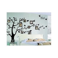 Large 179*210Cm/Black 3D DIY Photo Tree PVC Wall Decals/Adhesive Family Wall Stickers Mural Art Home Decor [8045583047]