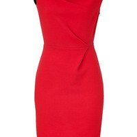STYLEBOP.com   RedandNavyColorblockWoolCrepeDressbyROKSANDAILINCIC   the latest trends from the capitals of the world