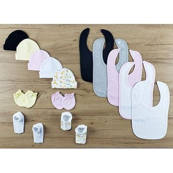 Bambini 14 PC set of Bibs, Caps, Booties