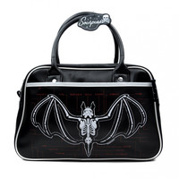 Sourpuss Anatomical Bat Bowler Purse Handbag Gothic Rare OOP