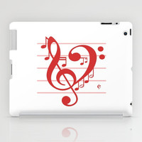 Love Music ~ Valentines Edition ~ iPad Case by RichCaspian