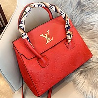 Hipgirls LV Louis vuitton  New fashion monogram print leather shopping and leisure shoulder bag crossbody bag handbag Red