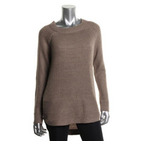 RDI Womens Ribbed Knit Crew Neck Pullover Sweater