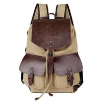 Comfort Stylish On Sale Casual Back To School Hot Deal College Canvas Big Capacity Backpack [10648213379]