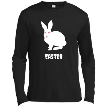 Evil Easter Bunny Rabbit Anti Holiday Pastel Goth Shirt Top Long Sleeve Moisture Absorbing Shirt