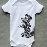Alice in Wonderland - MAD HATTER - Onesuit - Bodysuit - ALL Sizes Available