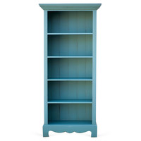 Beach House Bookcase, Turquoise, Bookcases & Bookshelves