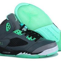 Hot Air Jordan 5 Women Shoes PrHot Airie Green