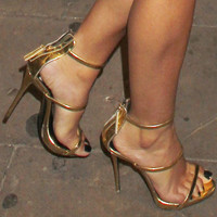 Tammy Metallic Gold Sandal