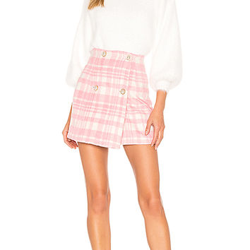 MAJORELLE Sabrina Mini Skirt in Pink Cloud | REVOLVE