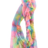 Illusion Pants in Tie Dye Mesh