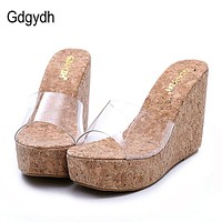 Transparent Platform Wedges