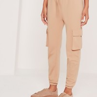 Missguided - Side Pocket Cropped Jogger Nude