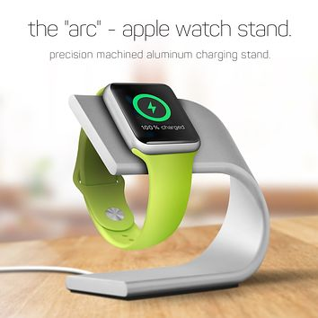 The 'Arc' Aluminum Apple Watch Charging Stand