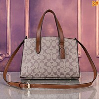 COACH Fashion New More Pattern Leather Shopping Shoulder Bag Women