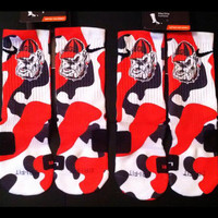 Georgia Bulldogs Inspired Custom Nike Elite Socks