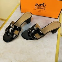 Hermes Women's Leather Sandals