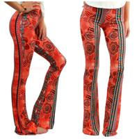 Saved By The Bell Red & Black Palazzo Pants