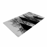 "Pia Schneider ""TREES V2"" Black White Gray Woven Area Rug"