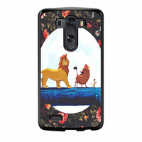 The Lion King Disney Floral LG G3 Case