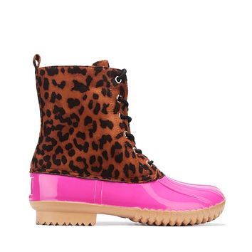 Cassidy Pink/Leopard Booties