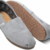 TOMS Movember Grey Suede Men's Classics Slip-On Shoes,