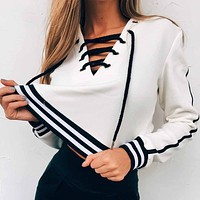 Yacht Club Lace Up Hoodie