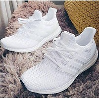 Ultraboost ADIDAS UB white men and women sports running shoes white shoes