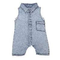 Denim Infant Baby Boys Clothes Romper Sleeveless Denim Summer Infant Boy Girl Jumpsuit Clothing Baby Outfits
