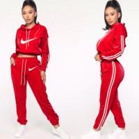 Nike fashion casual women's sports two piece suit