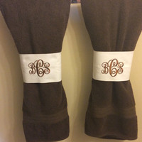 Monogram towel sleeves
