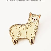 Alpaca Pin - Llama Pin - Llama Enamel Pin by boygirlparty