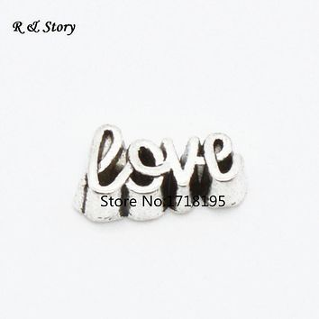 2015 Hot Sale popular trendy jewelry 20pcs love floating charms for living glass lockets LFC_2018