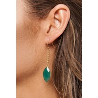 Sophia Drop Earrings (Gold/Green)