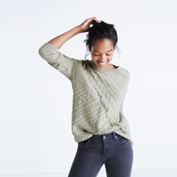 Cableknit Fringe Sweater :   Madewell