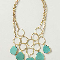 Anthropologie - Hammered Turquoise Bib Necklace