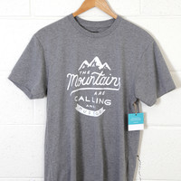 The Mountains are Calling Graphic Tee, Grey